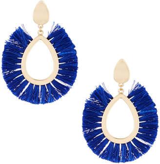 Fragments for Neiman Marcus Fringe Statement Earrings, Cobalt