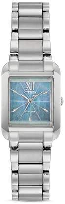 Citizen Bianca Light Blue Mother-of-Pearl Dial Watch, 22mm x 28mm