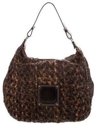 Longchamp Leather-Trimmed Printed Hobo