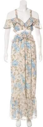 For Love & Lemons Cutout Floral Print Dress