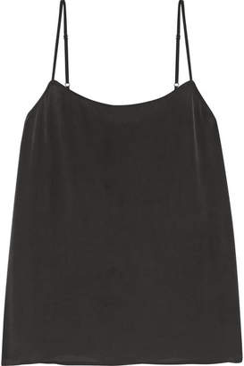 Equipment Cara Washed-silk Camisole - Black