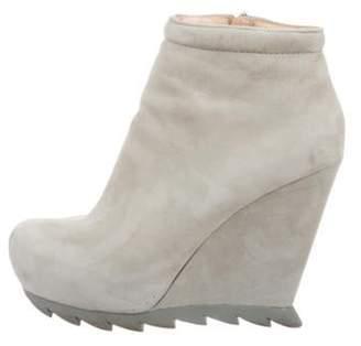 Camilla Skovgaard Suede Wedge Boots grey Suede Wedge Boots