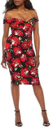 45af1d5e PREMIER AMOUR Premier Amour Off The Shoulder Floral Sheath Dress