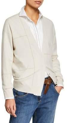 Brunello Cucinelli Metallic-Striped Cashmere Cardigan