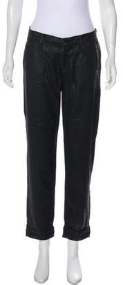 Adriano Goldschmied Straight-Leg Mid-Rise Pants