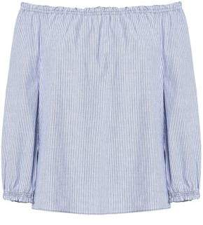 Joie Bamboo Off-The-Shoulder Striped Cotton Top