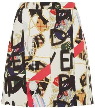 Burberry Side Stripe Skirt