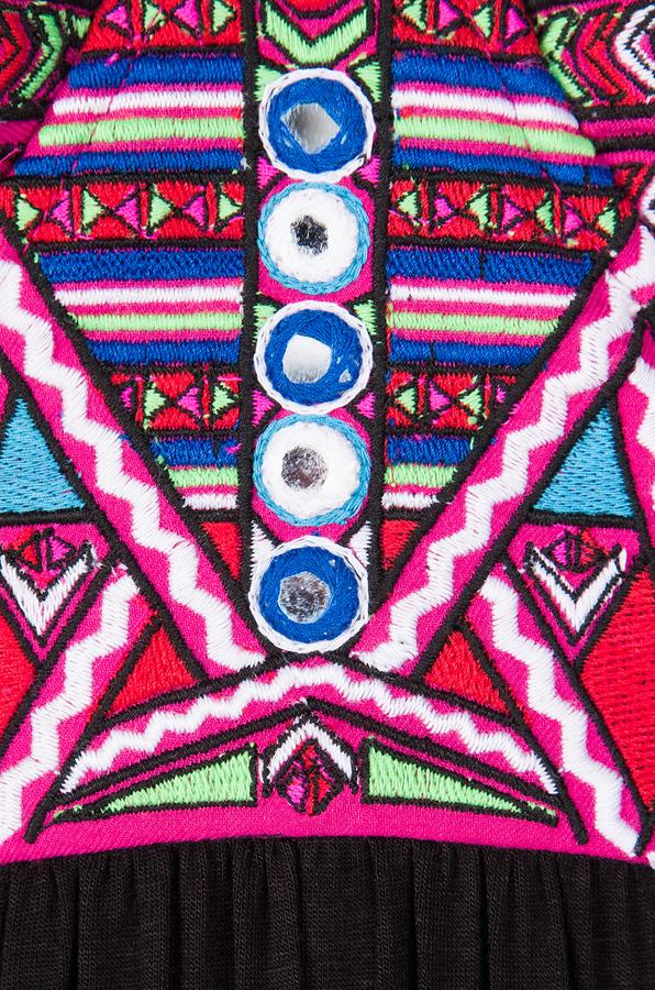 Mara Hoffman Mirror Embroidery Bustier Maxi Dress