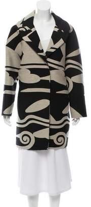 Diane von Furstenberg Patterned Wool-Blend Coat