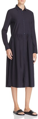 Vince Shirred Shirt Dress $295 thestylecure.com