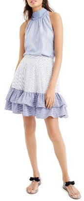Women's J.crew Cocktail Stripe Ruffle Skirt $69.50 thestylecure.com