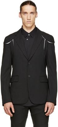 Comme des Garçons Homme Plus Black Pinstriped Cut-Out Blazer $1,450 thestylecure.com