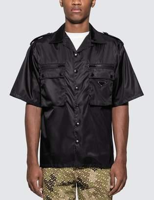 Prada Nylon gabardine shirt with Epaulettes