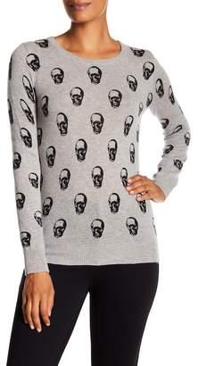 Catherine Malandrino Skull Print Cashmere Pullover