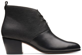 Clarks Maypearl Lucy Leather Ankle Boots