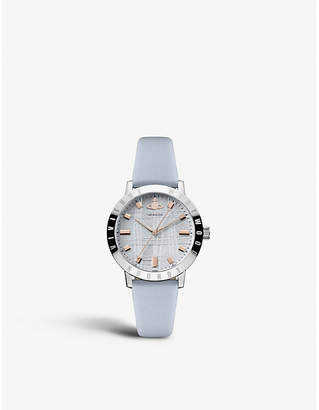 Vivienne Westwood VV152BLBL Bloomsbury stainless steel and leather strap watch