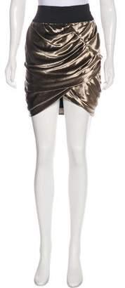 Elizabeth and James Velvet Ruched Skirt