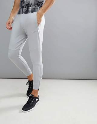 Asos 4505 super skinny training joggers with zip cuff in gray