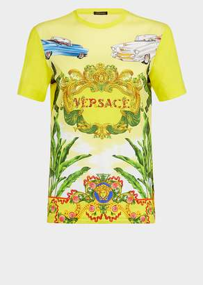 Versace Regular Fit Beverly Palm T-shirt