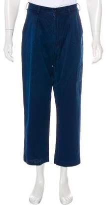 Blue Blue Japan Cropped Flat Front Pants