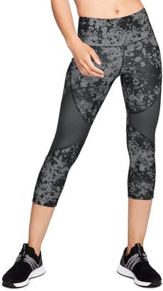 Under Armour Women's HeatGear Mesh Mid-Rise Capri Leggings
