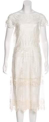 Alberta Ferretti Lace Midi Dress w/ Tags