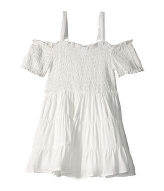 BCBGMAXAZRIA Girls Rayon Twill Sundress (Toddler/Little Kids)