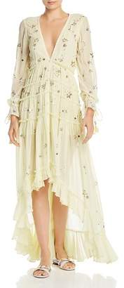 Rococo Sand Sequin-Star High/Low Maxi Dress