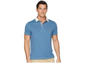 Nautica Faux Indigo Sporty Polo Men's Short Sleeve Pullover