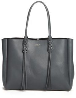 Lanvin Small Tasseled Leather Tote $1,550 thestylecure.com