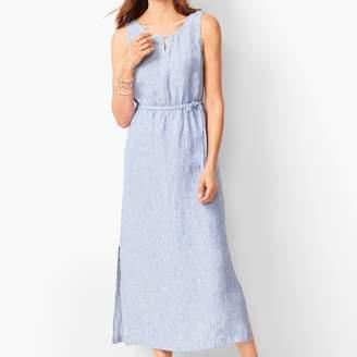 Talbots Stripe Linen Maxi Dress