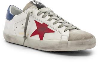 Golden Goose Superstar Sneaker in White & Red | FWRD