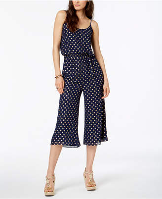 Michael Kors Printed Cropped Jumpsuit