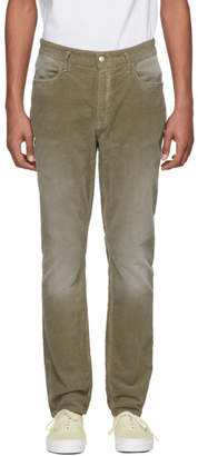 Nonnative Green Corduroy Dweller Trousers