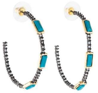 Alexis Bittar Crystal & Resin Hoop Earrings