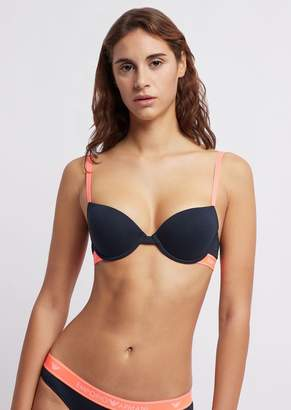 Emporio Armani Padded Bra With Logo Band