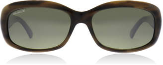 Serengeti Bianca Sunglasses Dark Stripe Tortoise 7366 Polariserade 57mm