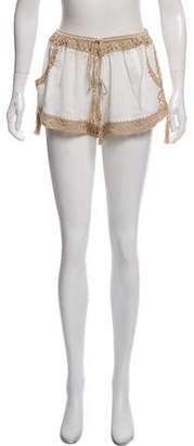 Anna Kosturova Embroidered Giza Shorts w/ Tags