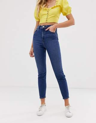 Asos Design DESIGN Recycled Farleigh high waist slim mom jeans in dark wash