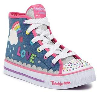 Skechers Shuffles Sparkle Skies Hi-Top Light-Up Sneaker (Little Kid & Big Kid)