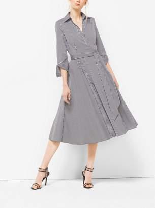 Michael Kors Gingham Cotton-Poplin Wrap Dress