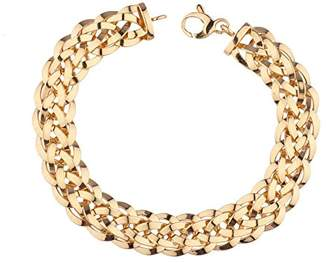 14K Gold High Polish Double Woven Bracelet