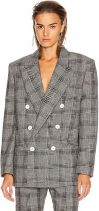 Isabel Marant Deagan Blazer Jacket in Black & Ecru | FWRD