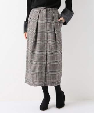 JOINT WORKS グレンチェックシャギーミディタイトスカート