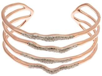 Monica Vinader Riva Diamond Hero Wave Cuff