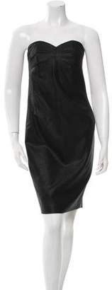 Robert Rodriguez Wool Strapless Dress w/ Tags