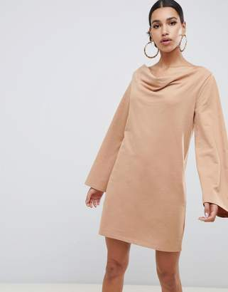 Asos DESIGN cowl neck mini sweat dress