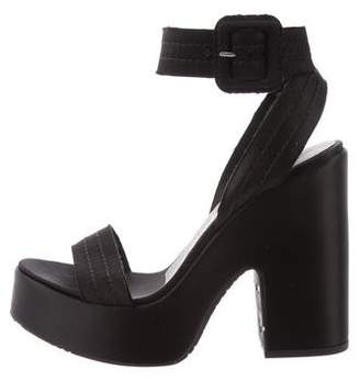 Pedro Garcia Platform Satin Sandals w/ Tags