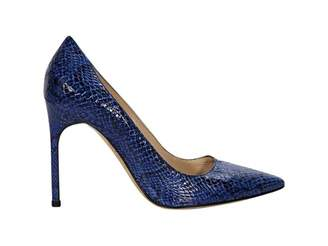 Manolo Blahnik Blue Exotic leather Heels