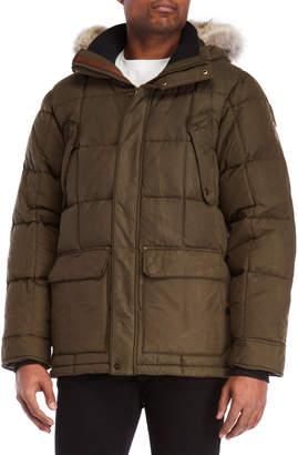 Sorel Real Coyote Fur Trim Hooded Coat